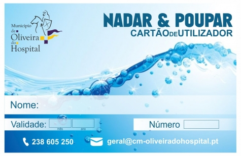 """Município de Oliveira do Hospital lança cartão """"Nadar & Poupar"""" para incentivar utilização da piscina municipal"""