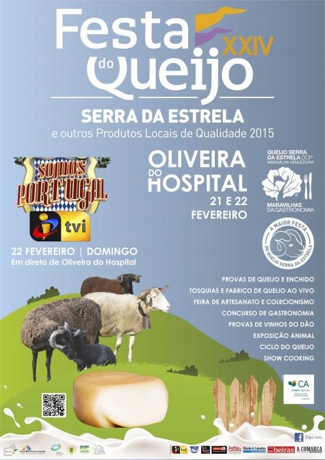 Maior Festa do Queijo Serra da Estrela de Portugal realiza-se em Oliveira do Hospital dias 21 e 22 de fevereiro